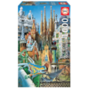 Educa Puzzle miniature - Gaudi Collage - 1000 pièces