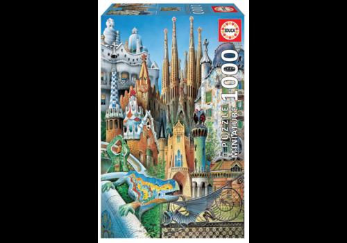 Educa Miniature puzzle - Gaudi Collage - 1000 pieces
