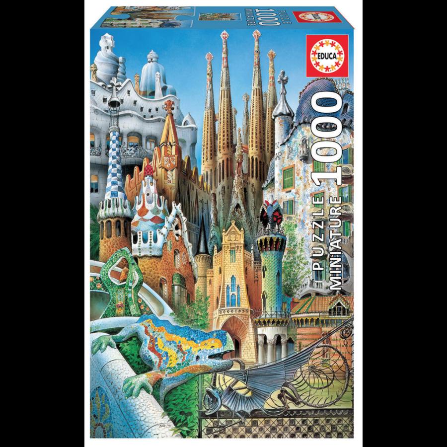 Miniatuur puzzel - Gaudi Collage - 1000 stukjes-1