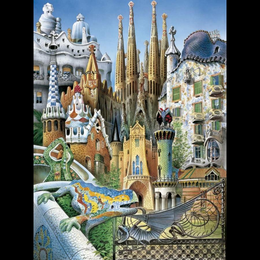 Miniatuur puzzel - Gaudi Collage - 1000 stukjes-2