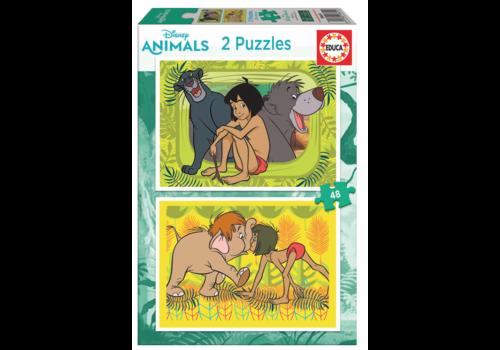 Educa Jungleboek - 2 x 48 stukjes