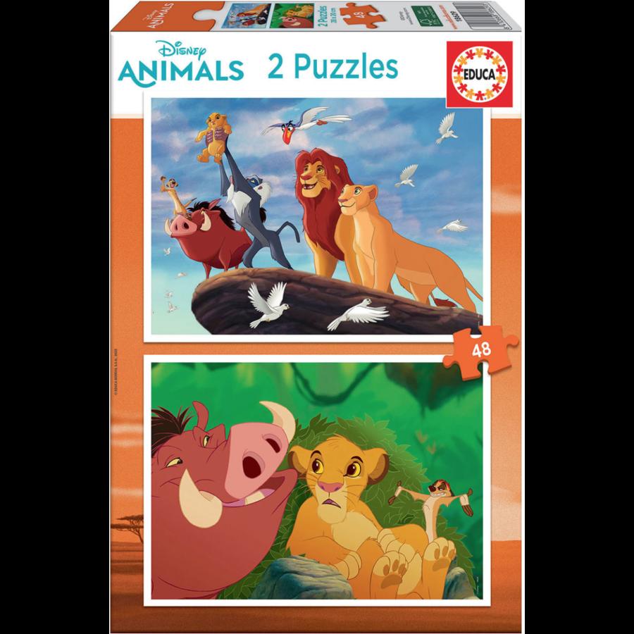Lion King - 2 x 48 pièces-1