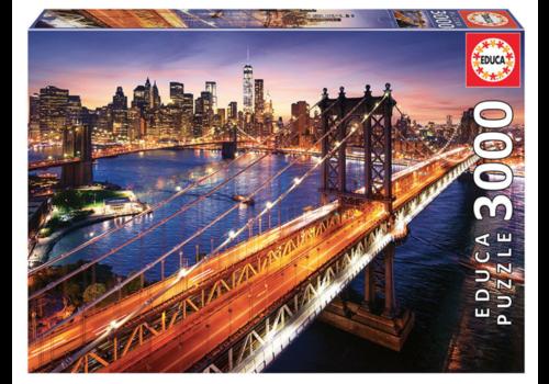Manhattan in New York - 3000 stukjes