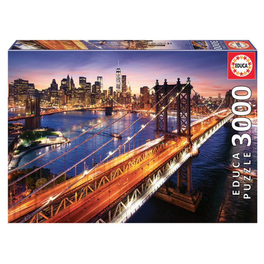 Manhattan in New York - jigsaw puzzle of 3000 pieces-1