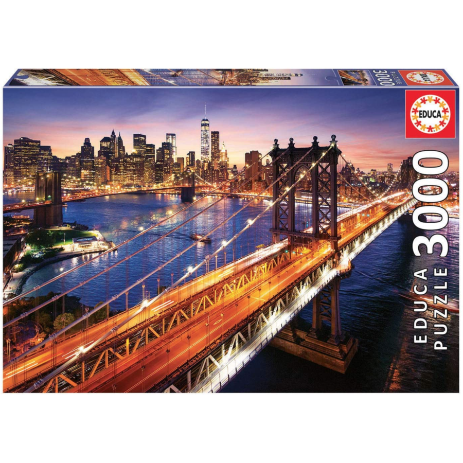Manhattan in New York - jigsaw puzzle of 3000 pieces-3