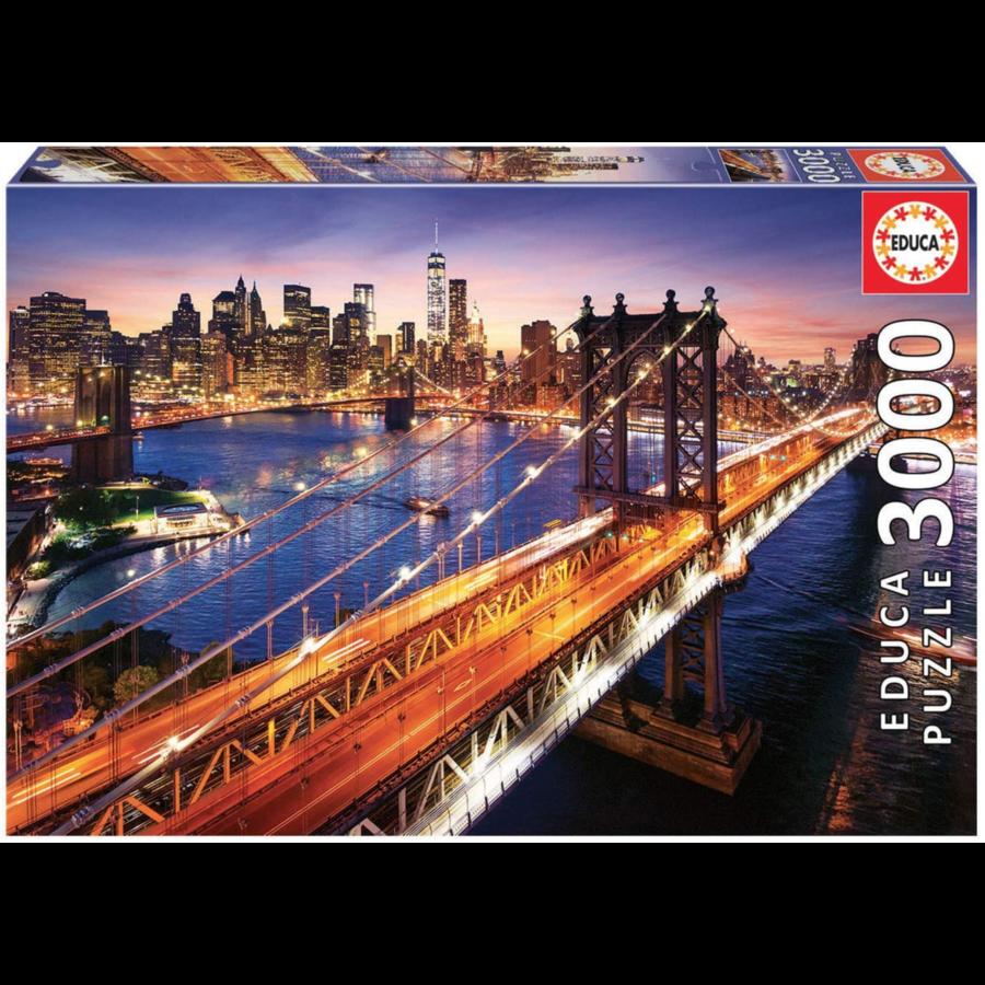 Manhattan in New York - puzzel van 3000 stukjes-3