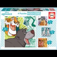 thumb-4 puzzels van de Disney dieren - 12, 16, 20 en 25 stukjes-1