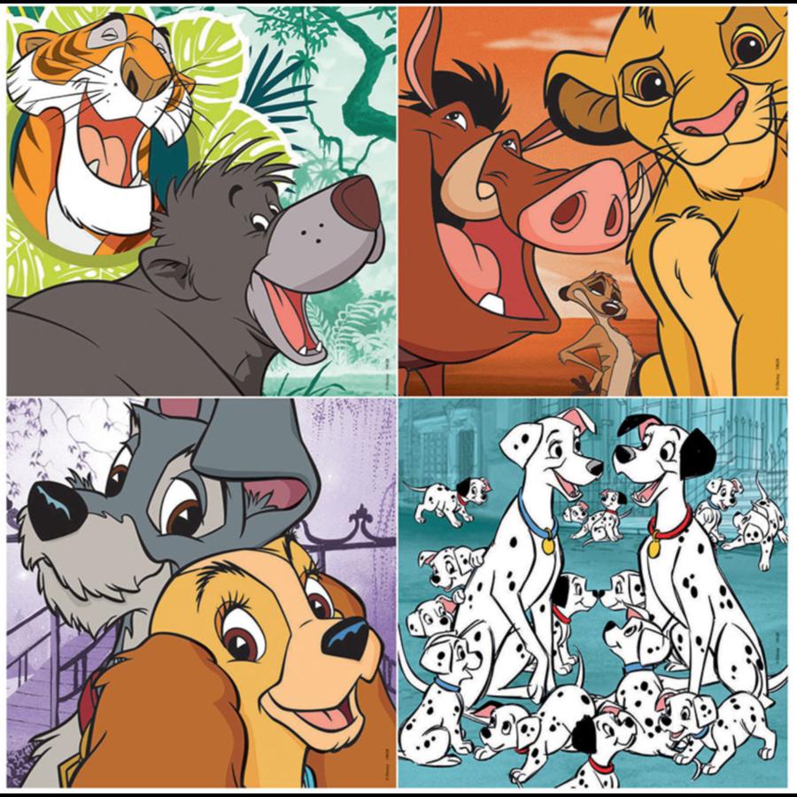 4 puzzels van de Disney dieren - 12, 16, 20 en 25 stukjes-2