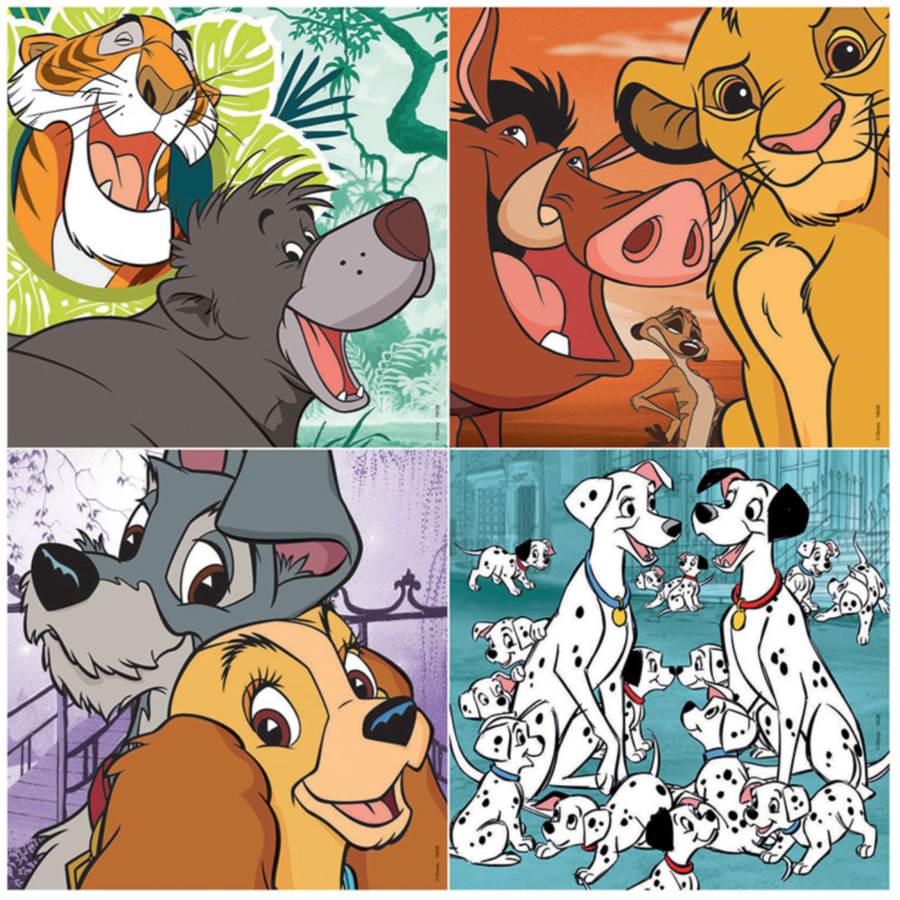4 puzzles of Disney animals - 12, 16, 20 and 25 pieces-2