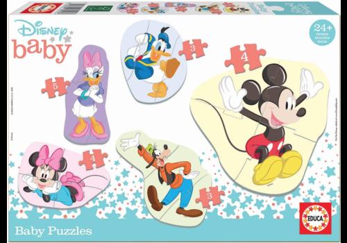 Educa Baby Mickey - 3, 4 en 5 stukjes