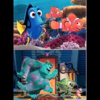 BOIS: Pixar - Nemo et Dory - Monsters Inc. - 2 x 25 pièces