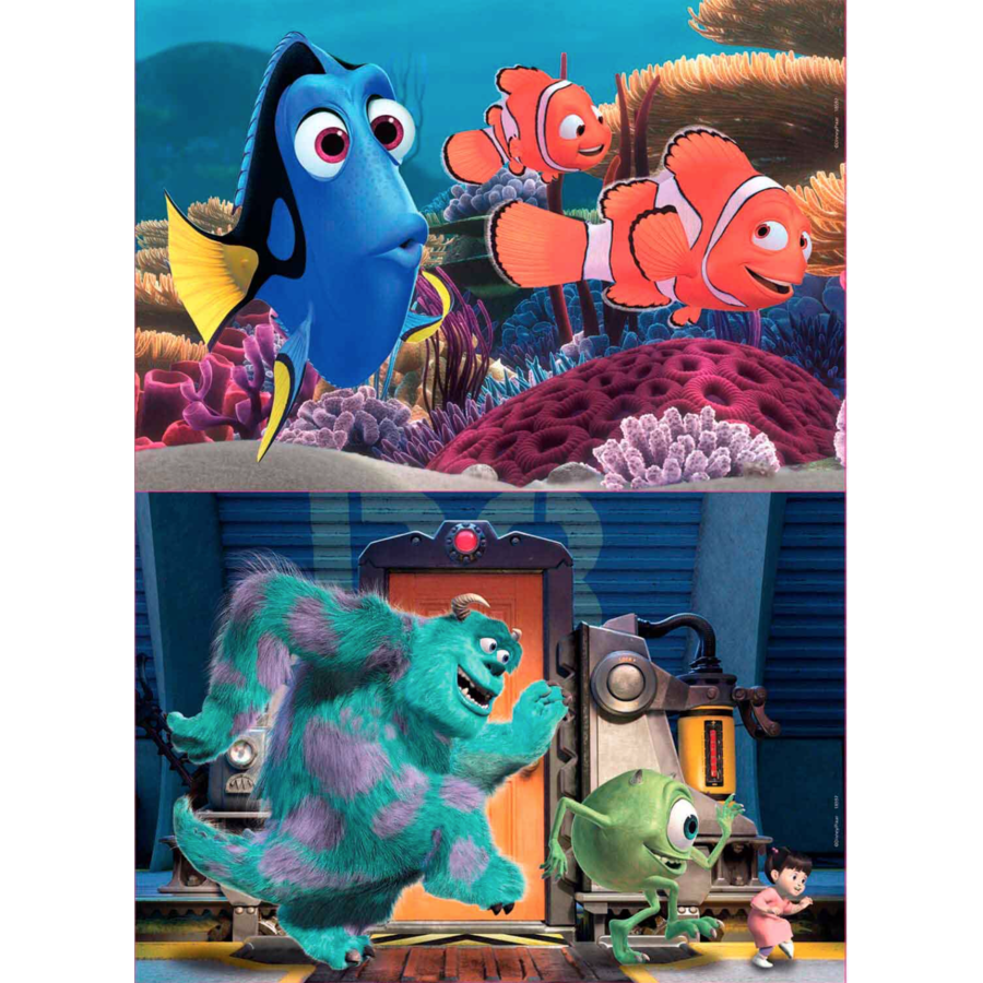 HOUT: Pixar - Nemo en Dory - Monsters Inc. - 2 x 25 stukjes-1