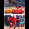 Educa WOOD: Pixar - Cars & Incredibles - 2 puzzles van 50 pieces