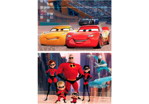 Educa HOUT: Pixar - Cars & Incredibles - 2 x 50 stukjes