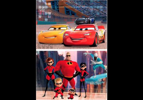 Educa WOOD: Pixar - Cars & Incredibles - 2 x 50 pieces