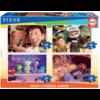 Educa Pixar films - 4 puzzels van 20 / 40 / 60 / 80 stukjes