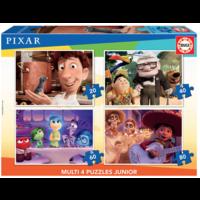 thumb-Pixar films - 4 puzzles of 20 / 40 / 60 / 80 pieces-1