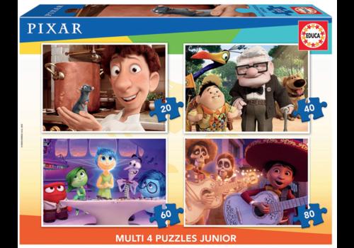 Educa Films de Pixar - 4 puzzles 20 / 40 / 60 / 80 pièces