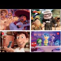 thumb-Pixar films - 4 puzzles of 20 / 40 / 60 / 80 pieces-2