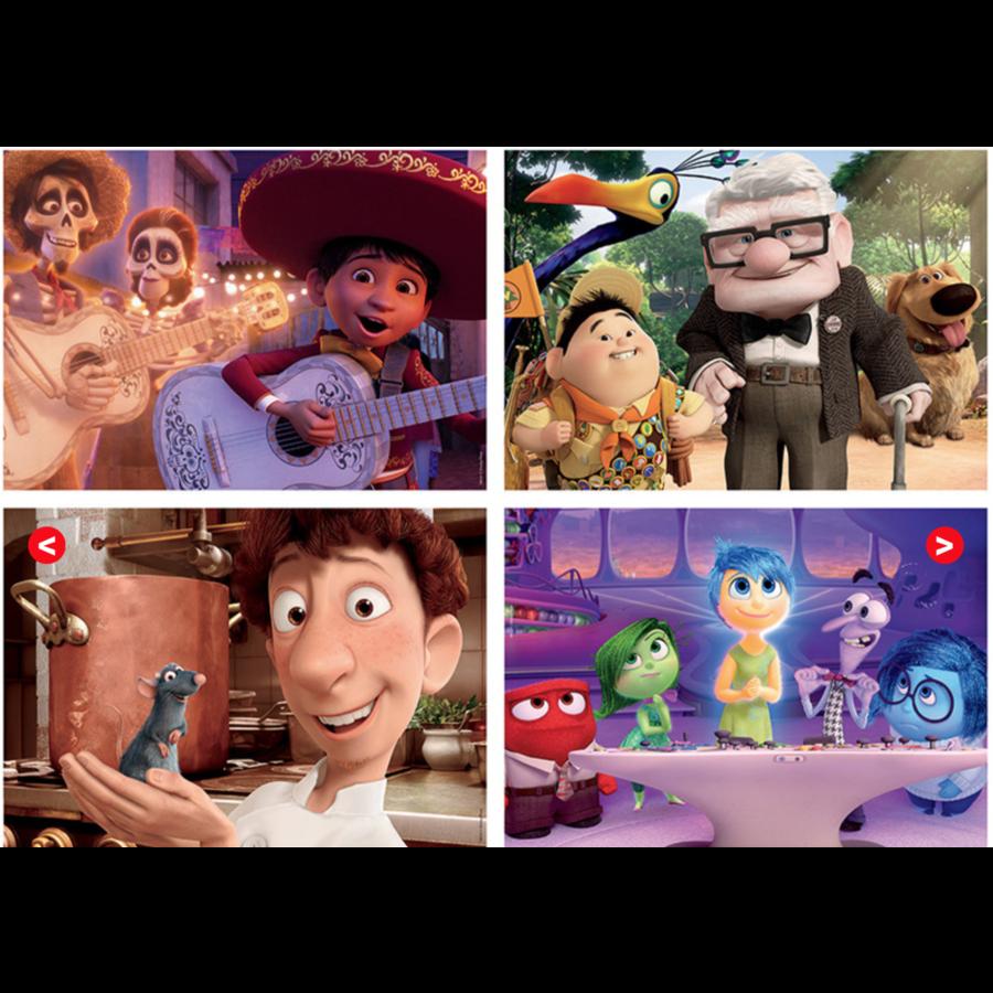 Pixar films - 4 puzzles of 20 / 40 / 60 / 80 pieces-2
