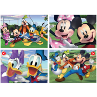 Mickey Mouse and friends - 4 puzzles of 20 / 40 / 60 / 80 pieces