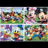 Mickey Mouse en vrienden - 4 puzzels van 20 / 40 / 60 / 80 stukjes