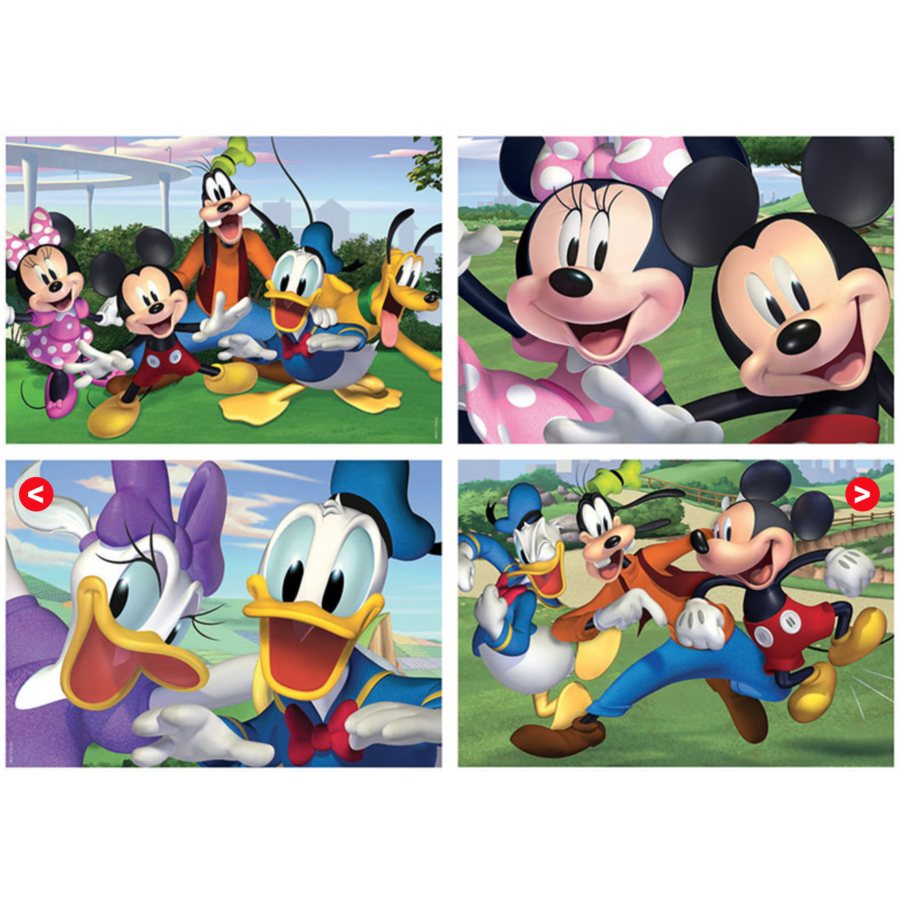 Mickey Mouse en vrienden - 4 puzzels van 20 / 40 / 60 / 80 stukjes-1