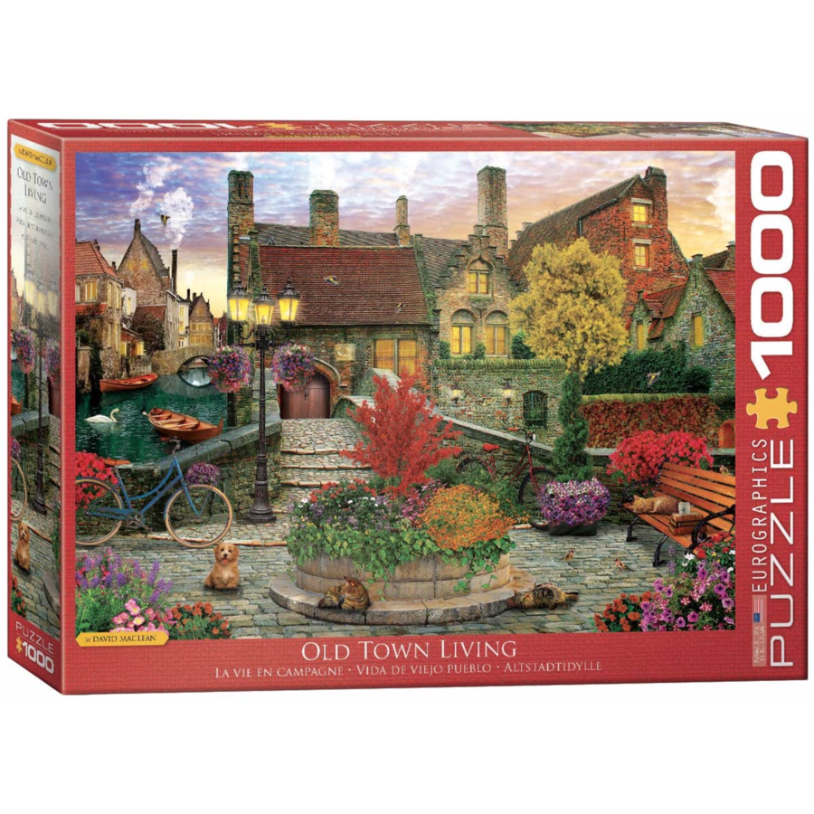 Old Town Living - 1000 pieces - jigsaw puzzle-1