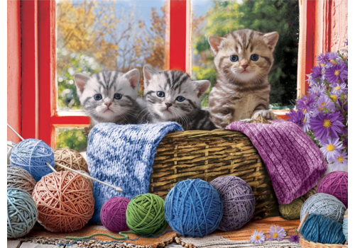 Eurographics Puzzles Knittin' Kittens - 500XL pieces