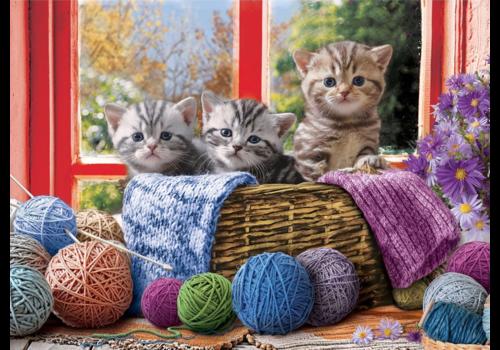 Eurographics Puzzles Knittin' Kittens - 500XL stukjes