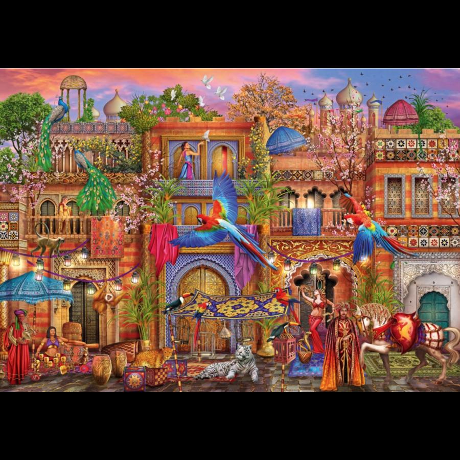 Arabische straat  - puzzel van 1000 stukjes-1