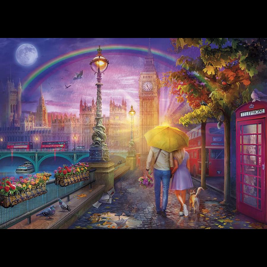 Romantiek op de kade - puzzel van 1000 stukjes-2