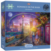 thumb-Romantiek op de kade - puzzel van 1000 stukjes-1