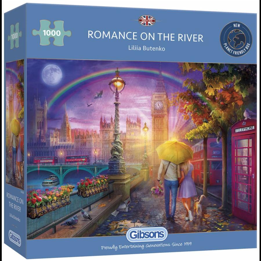 Romantiek op de kade - puzzel van 1000 stukjes-1