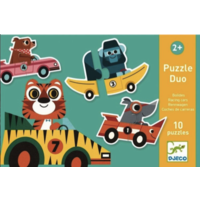 thumb-Puzzle duo - Original cars - 10 x 2 pieces-1