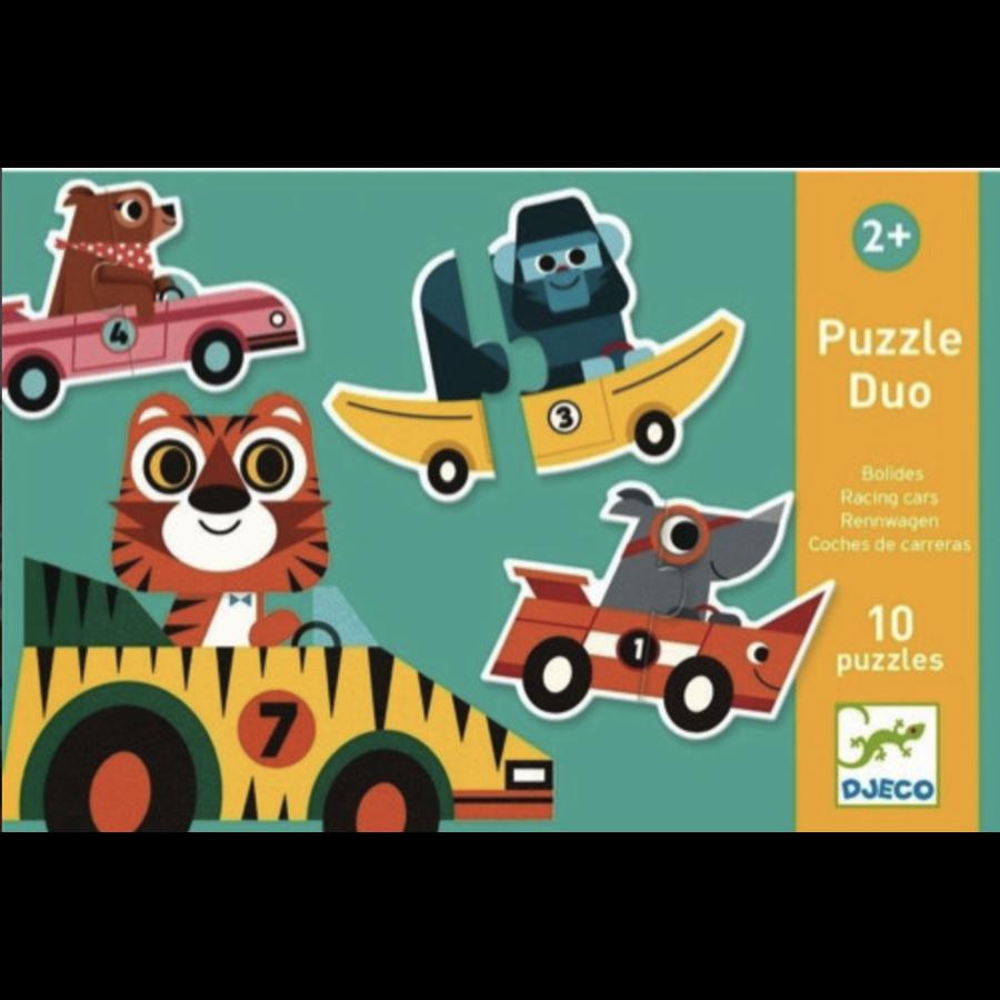 Puzzel duo - Originele auto's - 10 x 2 stukjes-1