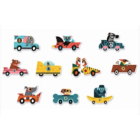 thumb-Puzzle duo - Original cars - 10 x 2 pieces-2