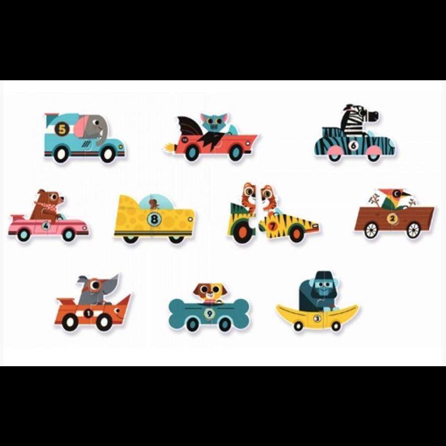 Puzzel duo - Originele auto's - 10 x 2 stukjes-2