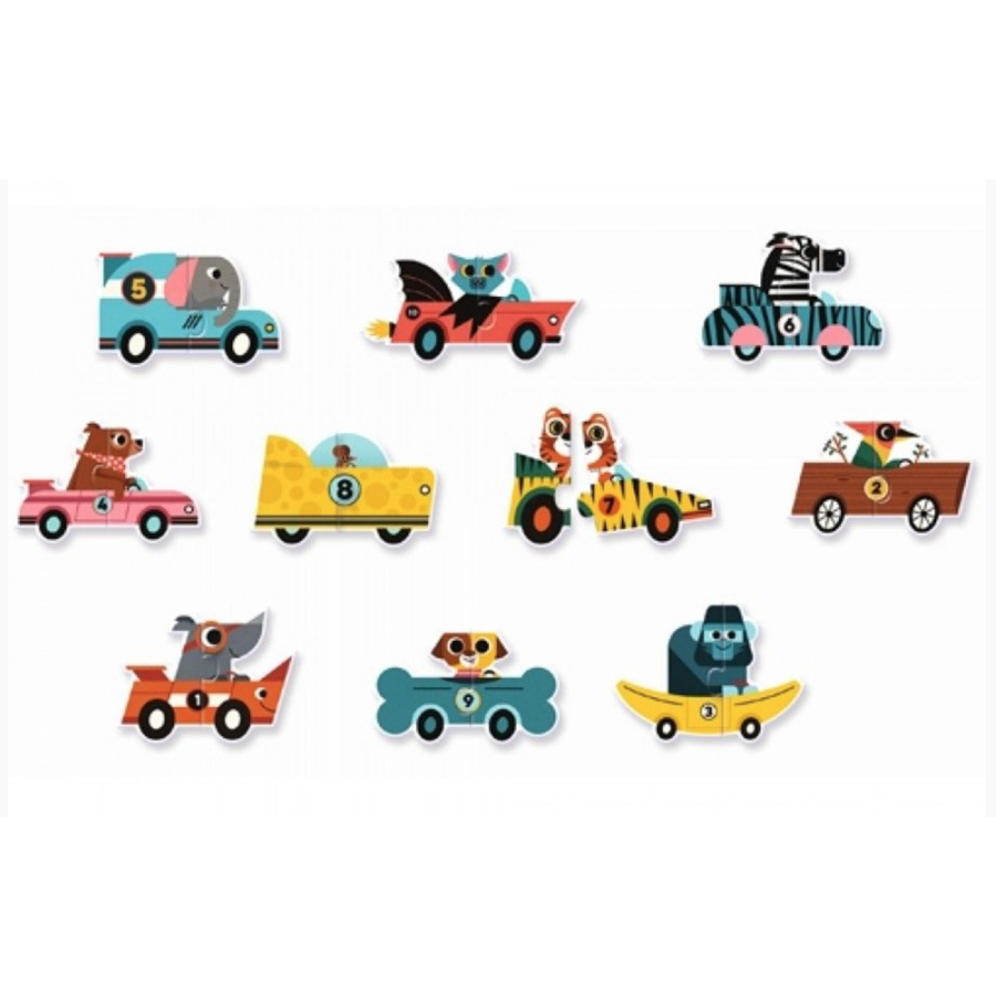 Puzzle duo - Original cars - 10 x 2 pieces-2