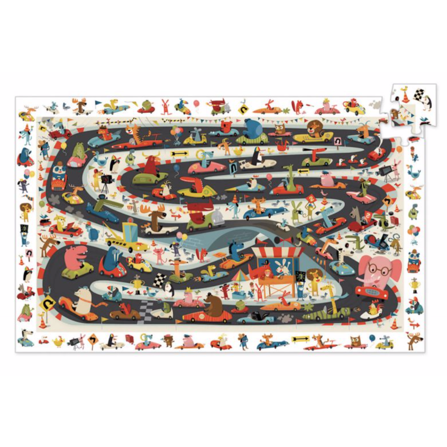 Search puzzle - Car rally - 54 pieces-2