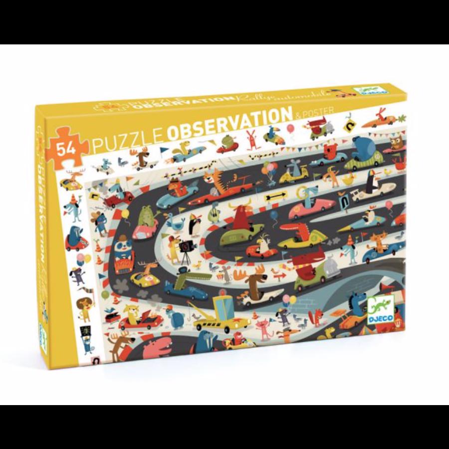 Puzzle de Recherche - Car rally - 54 pièces-1