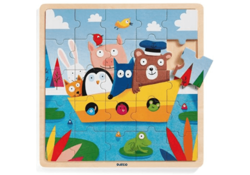 Djeco Animals on the boat - 25 pieces