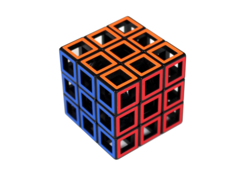 Hollow Three by Three  - brainteaser cube