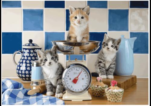 Katten in de keuken - 500 stukjes