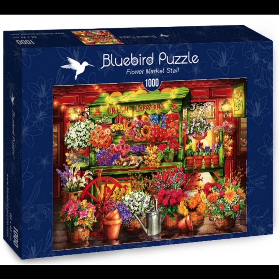 Le marché aux fleurs  - puzzle de 1000 pièces-2