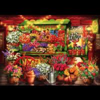 thumb-Le marché aux fleurs  - puzzle de 1000 pièces-1