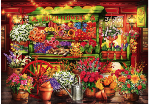Bluebird Puzzle Flower Market Stall - 1000 pieces