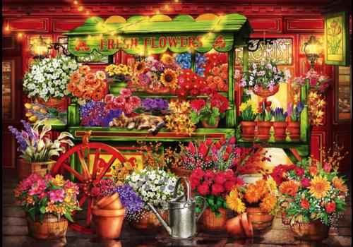 Bluebird Puzzle Kraam op de Bloemenmarkt - 1000 stukjes