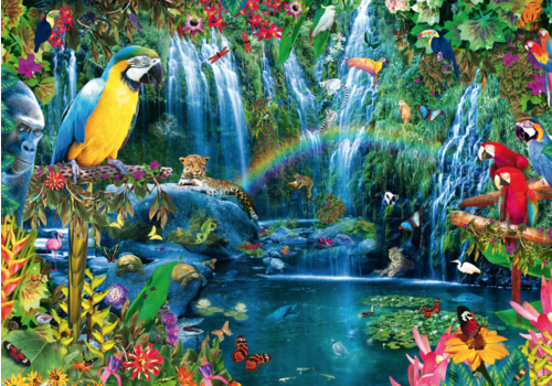 Bluebird Puzzle Papegaaien in de tropen - 1000 stukjes