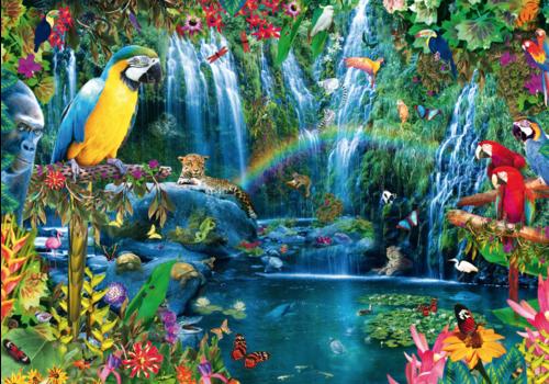 Bluebird Puzzle Tropiques des perroquets - 1000 pièces